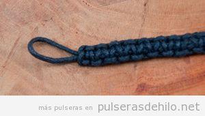 Cómo hacer nudo llano en pulseras de hilo, paso a paso