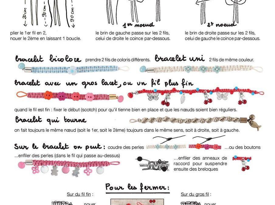 Distintos modelos de pulseras de macramé con diferentes cierres paso a paso