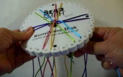 Pulsera de cola de ratón con la técnica del Kumihimo, vídeo paso a paso