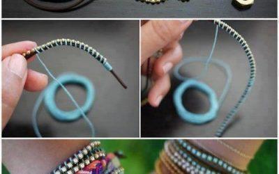 Cómo hacer una pulsera de cuero, cuentas e hilo paso a paso