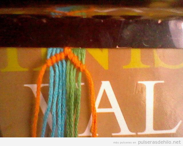 Tutorial, pulsera de hilo jipijapa, paso 1¡3