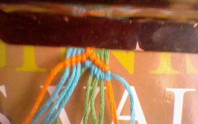 Pulsera de hilo, modelo Jipijapa, tutorial paso a paso
