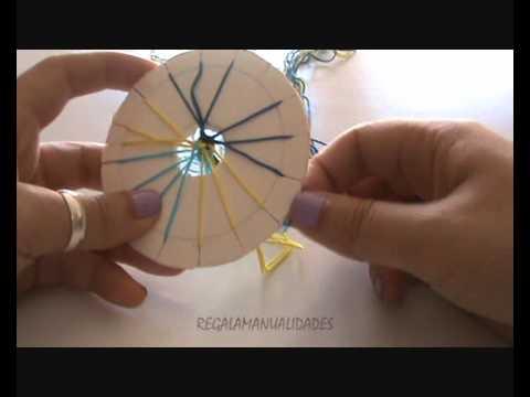 Como hacer una pulsera de hilo redonda, vídeo paso a paso