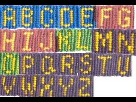 Pulseras de hilos con nombres, letra C (videotutorial)