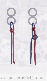 Tutorial paso a paso para aprender a hacer una pulsera de nudos,2