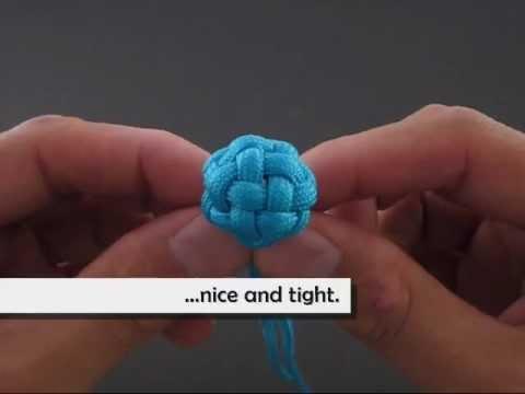 Cómo hacer una esfera con nudos para las pulseras, vídeo paso a paso