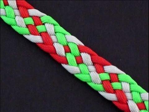 Cómo hacer una pulsera con cordones y nudos plana, paso a paso
