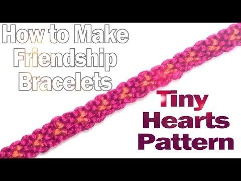 Cómo hacer una pulsera de hilo, patrón de mini corazones (videotutorial)