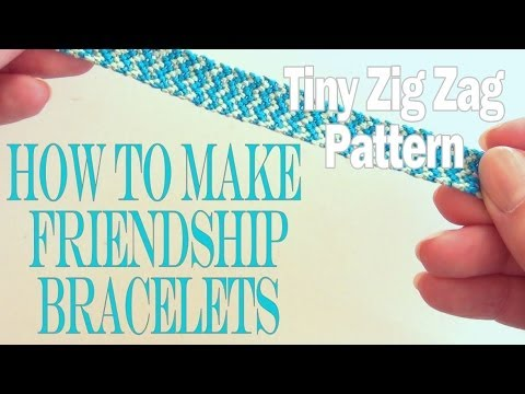 Pulsera de la amistad con estampado mini zigzag, vídeo paso a paso