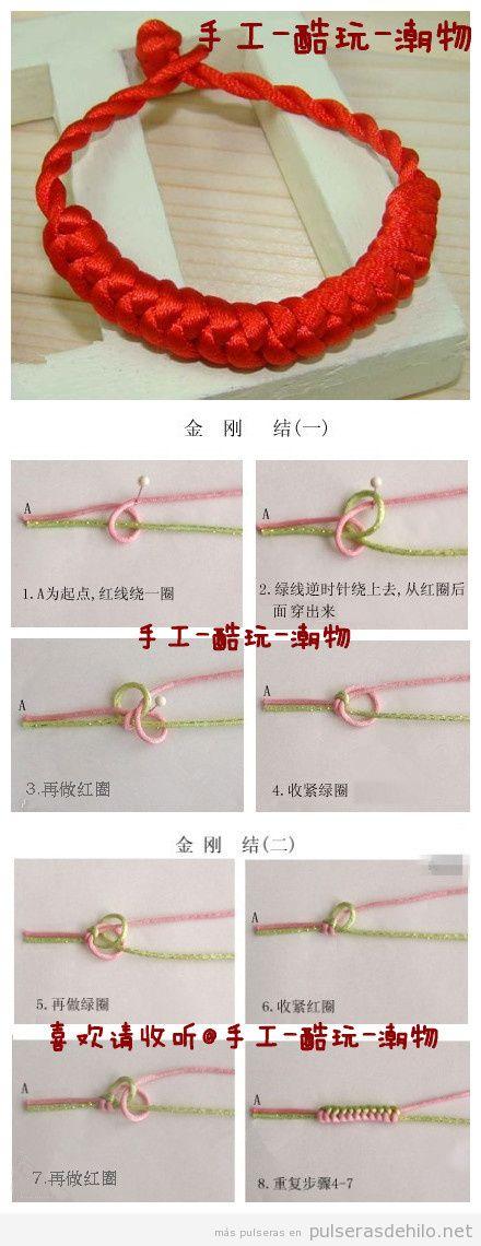 Tutorial pulsera de hilo de cola de ratón estilo chino