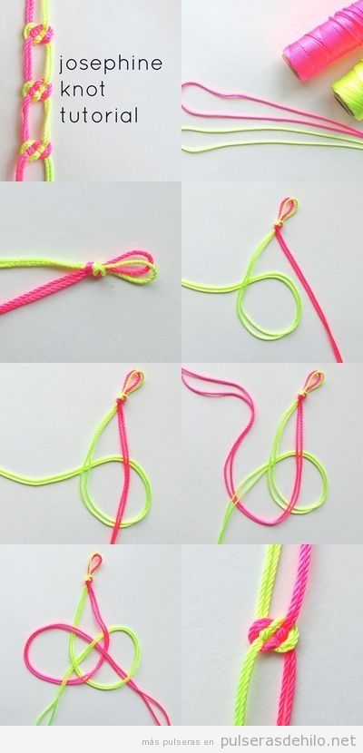 0b914d102b23 Cómo hacer una pulsera DIY con cuerdas y nudo