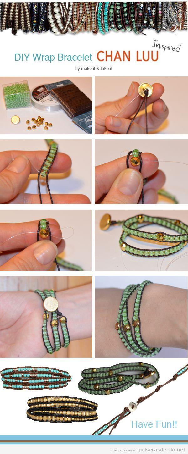 Tutorial para hacer una pulsera de cuentas y cuerdas, paso a paso