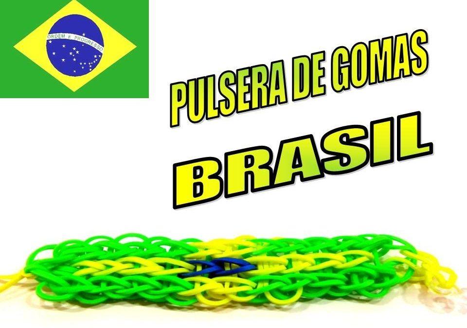 Pulsera de gomitas con la bandera de Brasil