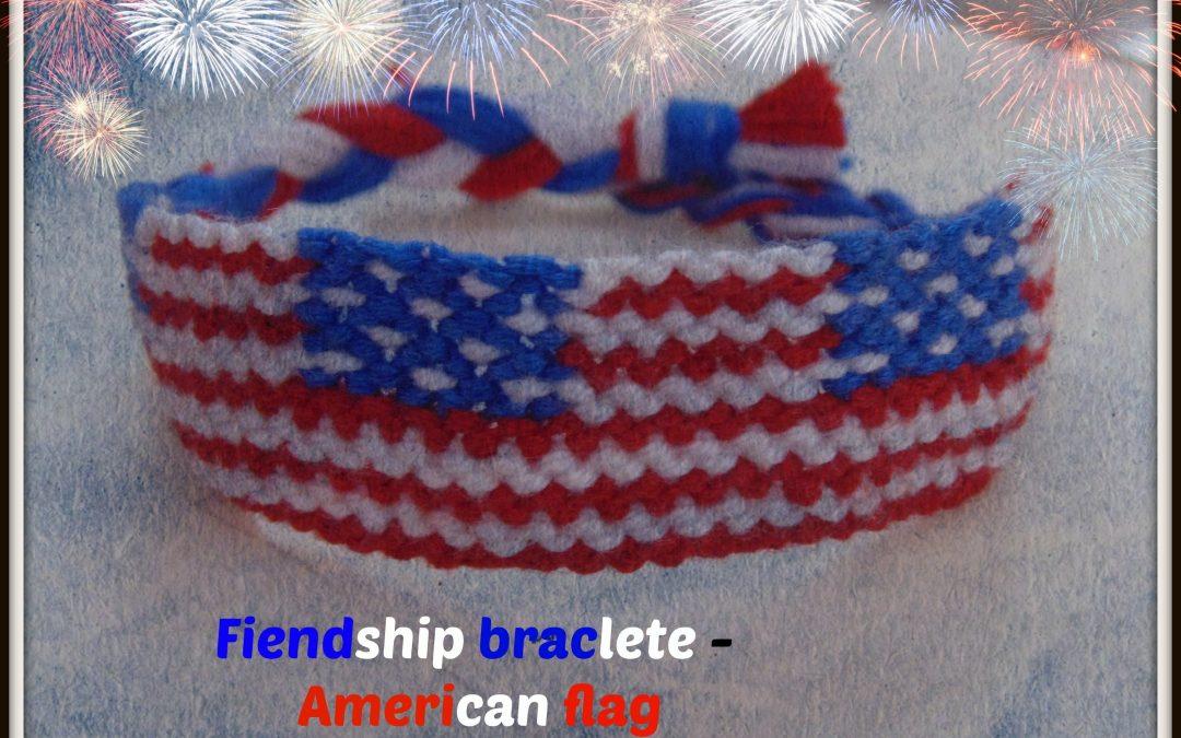 Pulsera de hilos con la bandera de Estados Unidos, vídeo para aprender a hacerla