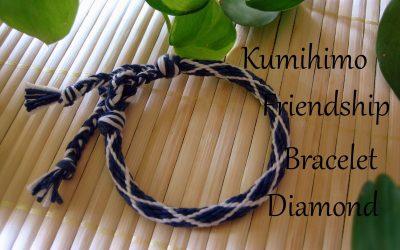 Pulsera de la amistad Kumihimo con estampado de diamante, videotutorial