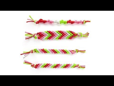 Cómo hacer los nudos básicos para realizar pulseras de la amistad (videotutorial)