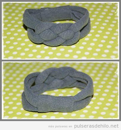 Cómo convertir una camiseta vieja de algodón en una pulsera de nudos