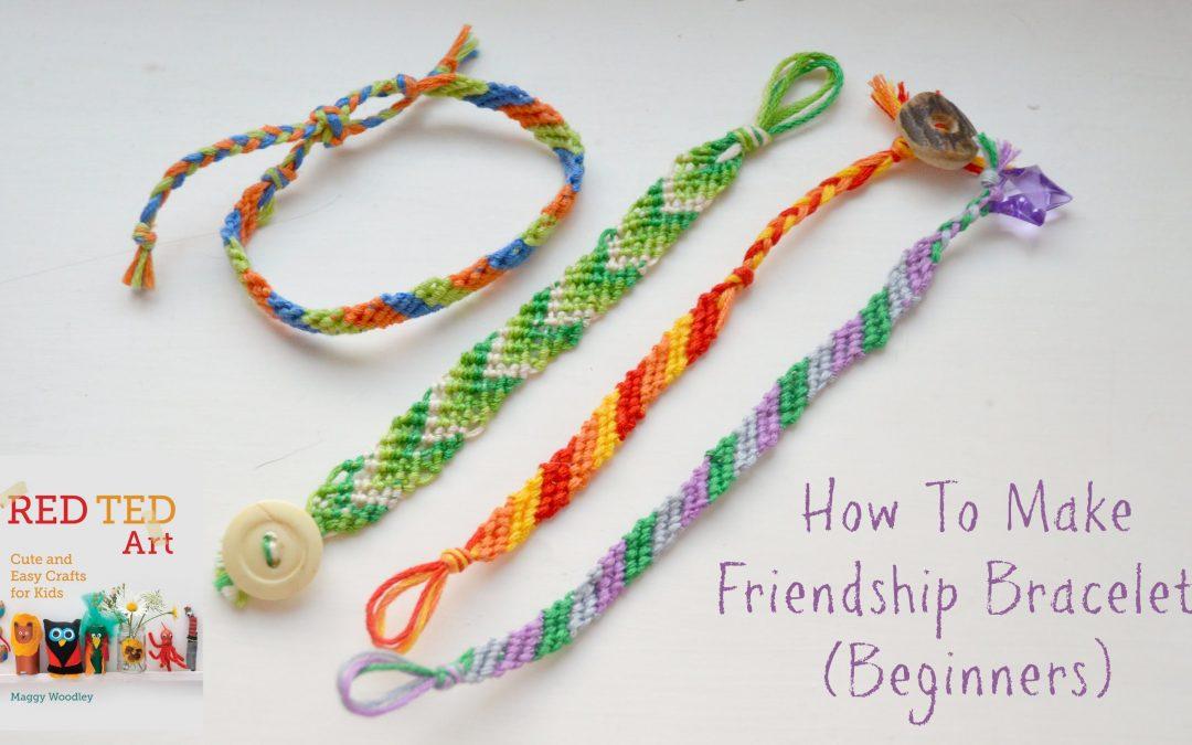 Cómo hacer pulseras de la amistad con lineas horizontales (nivel fácil)