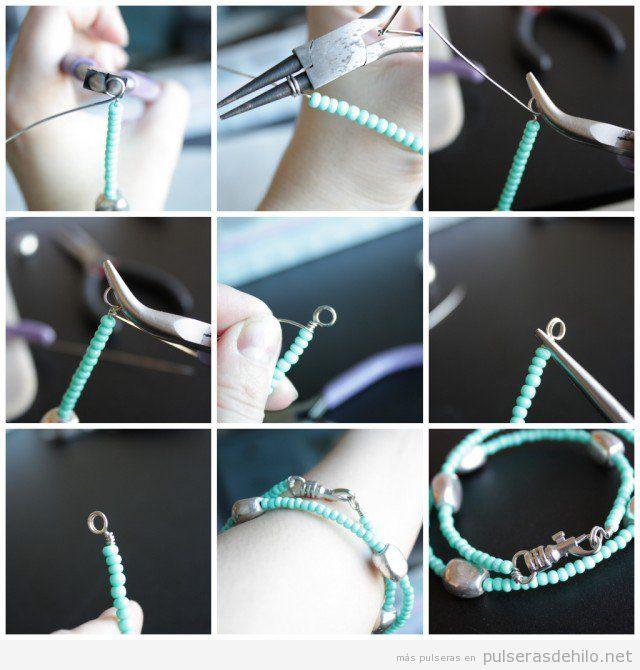 838ad2a4fbda Tutorial para aprender a hacer cierre pulsera con hilo de alambre ...