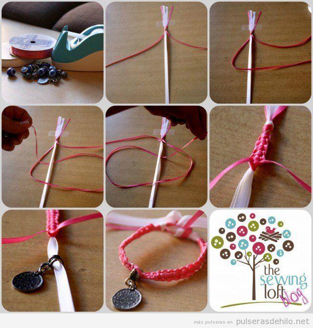 Cómo hacer una pulsera de nudos con hilo de cola de ratón, muy fácil