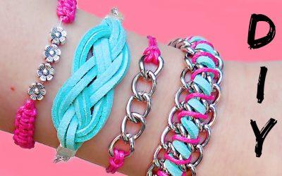 4 pulseras chulísimas DIY, aprende a hacerlas paso a paso
