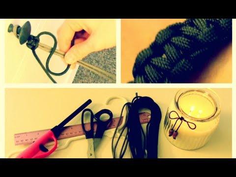 Pulsera hecha con cuerda de paracaída, un regalo para tu novio en San Valentín