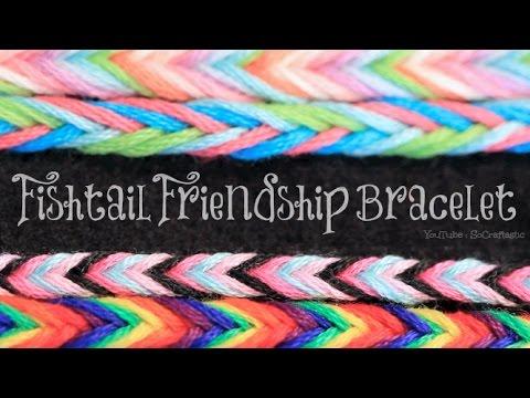 Brazaletes de la amistad hecho con hilos trenzados, estampado cola de pez muy fácil (vídeo)