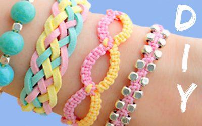 4 pulseras fáciles de hacer perfectas para el verano, vídeo paso a paso