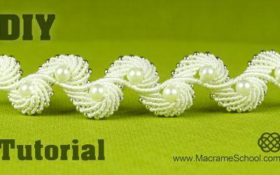 Pulsera de macramé, diseño de alas de ángel (Videotutorial)
