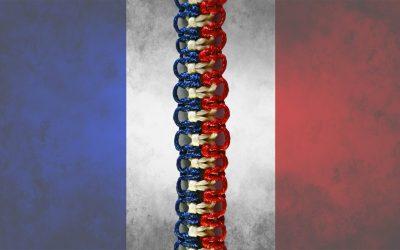 Pulsera de la amistad con los colores de la bandera francesa (Videotutorial)