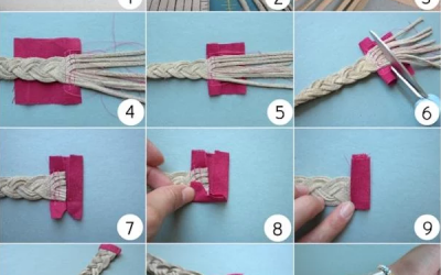 Tutorial para aprender a hacer un brazalete con tiras de antelina trenzadas, paso a paso