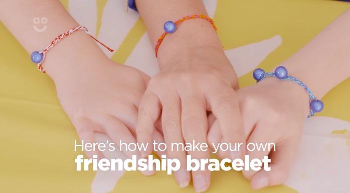 Cómo hacer una pulsera de la amistad con niños, manualidad fácil
