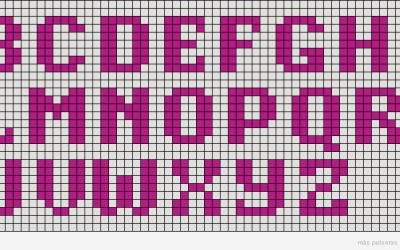 3 patrones alpha con el abecedario para hacer pulseras de hilo