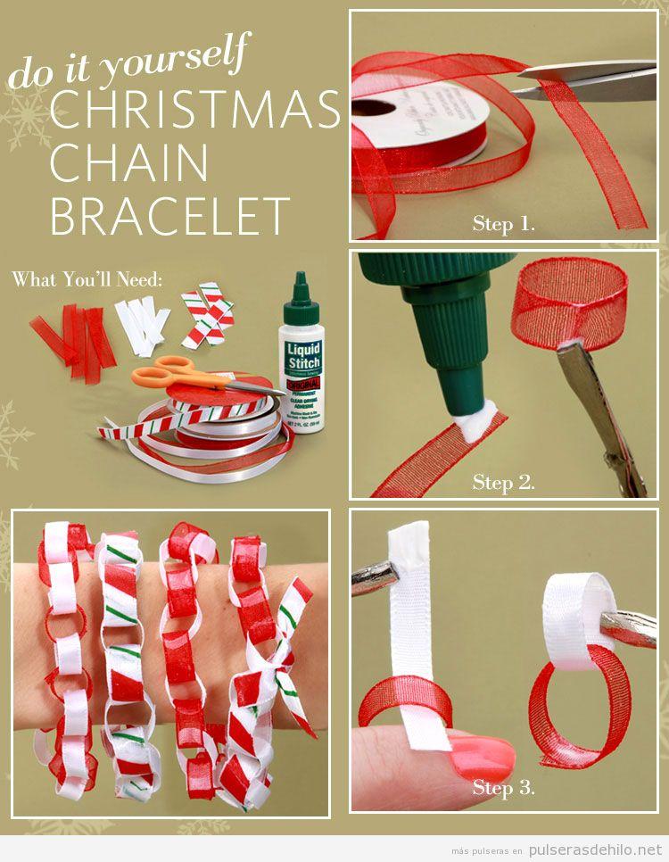 Tutorial pulsera fácil DIY Navidad