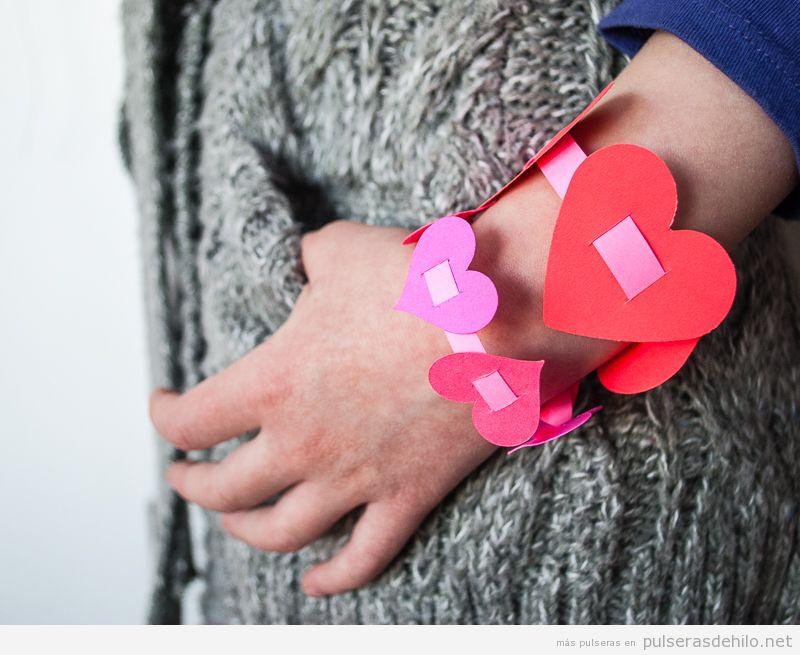 Pulseras DIY niños para regalar San Valentín