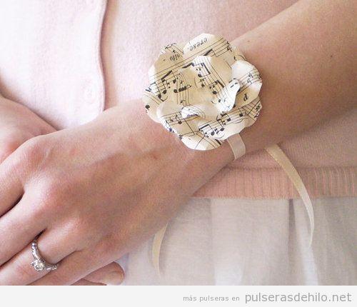 Paso a paso pulseras de hilo tutoriales para hacer - Flores de telas hechas a mano ...