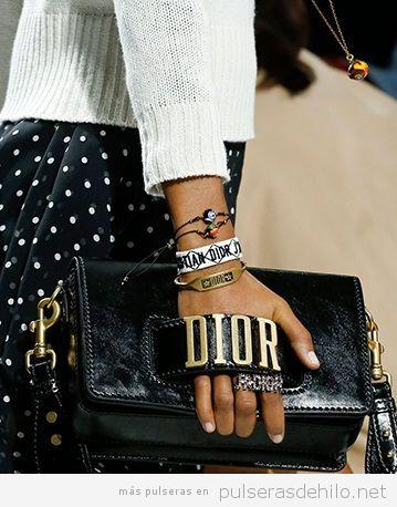 Pulseras de moda, pulsera de tela de Dior 2