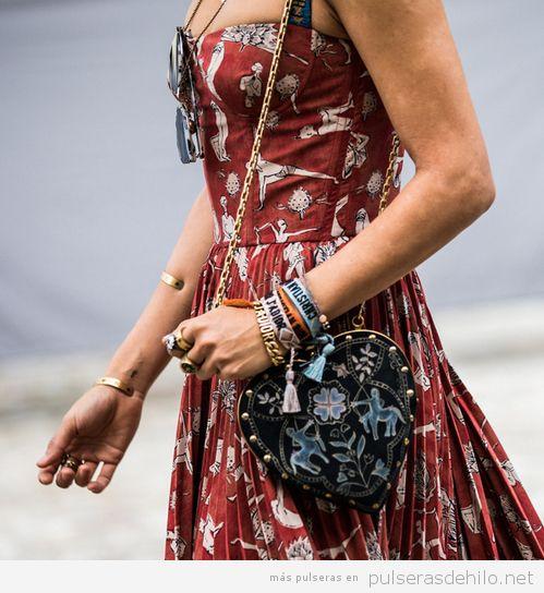 Pulseras de moda, pulsera de tela de Dior