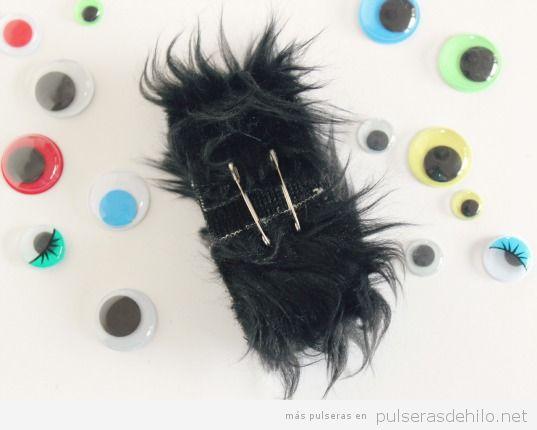Pulsera fácil Halloween, monstruo peludo, paso 3
