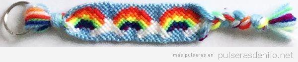 Pulseras de hilo arcoiris