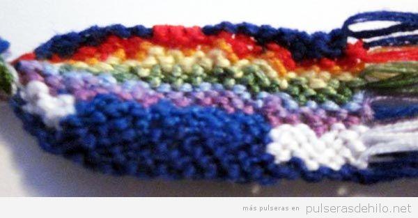 Pulseras de hilo arcoiris 2