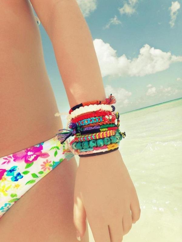 Pulseras de hilo bikini