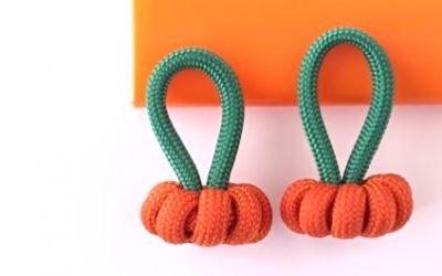 Cómo hacer una pulsera de cuerdas con calabazas para Halloween, videotutorial fácil