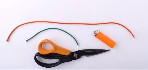 Calabaza cuerda paracaídas materiales
