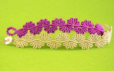 5 Tutoriales para hacer pulseras de macramé de flores